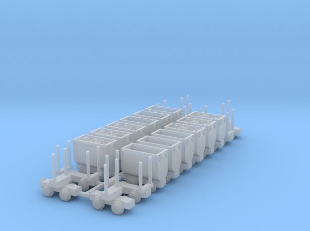 Grubenbahn Set2 - TTf 1:120 in Smooth Fine Detail Plastic