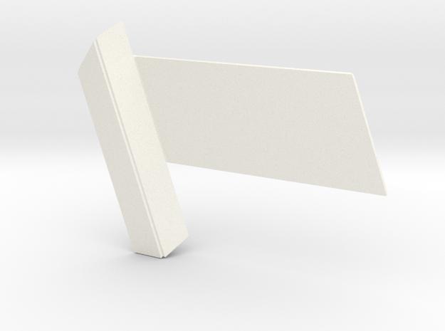 RDS Interlock - Slider (solid) in White Processed Versatile Plastic