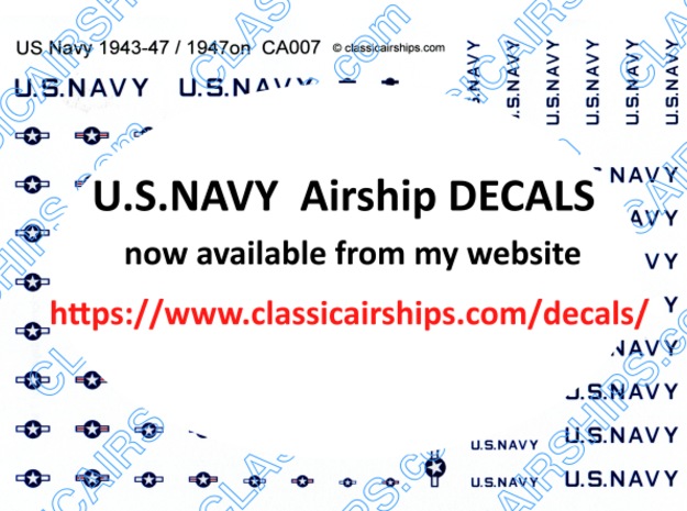 AAA222 U.S.NAVY DECALS in White Natural Versatile Plastic