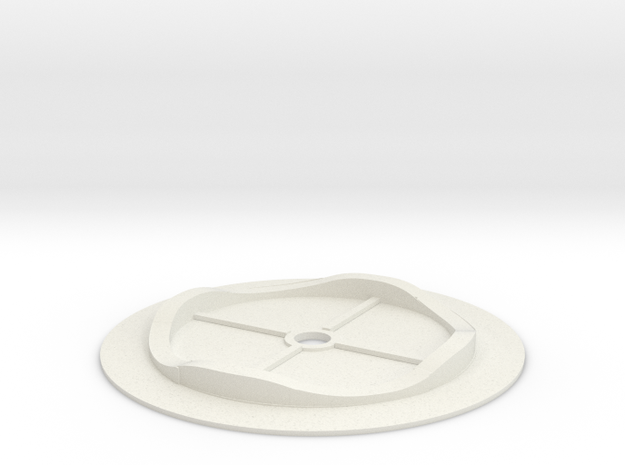 Spaceage base and track in White Natural Versatile Plastic