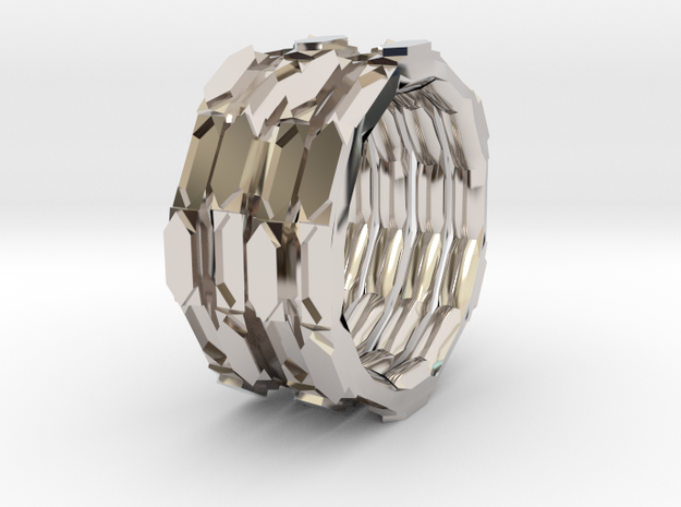 Code name ring in Rhodium Plated Brass: 10.5 / 62.75