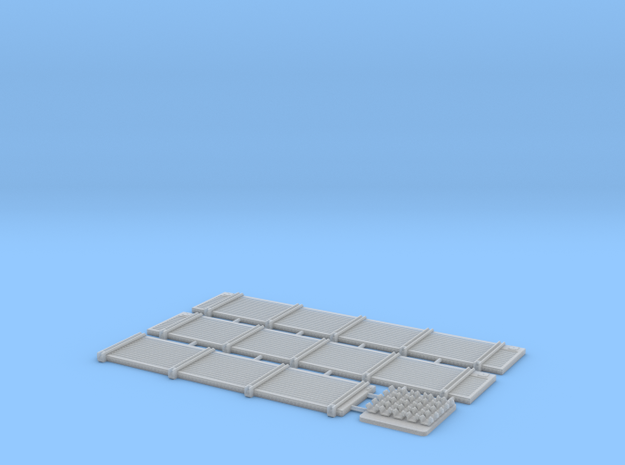 Sdkfz 7 Cargo Bed  Sides  in Smooth Fine Detail Plastic