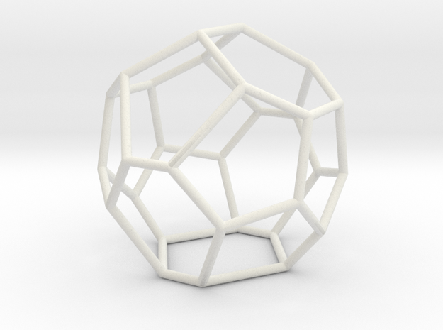 Fullerene with 17 faces, no. 3 in White Natural Versatile Plastic