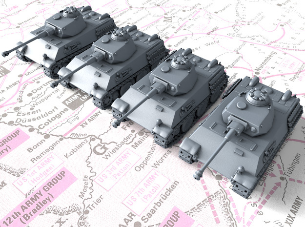 1/285 German VK 28.01 Light Tanks x4 in Smooth Fine Detail Plastic