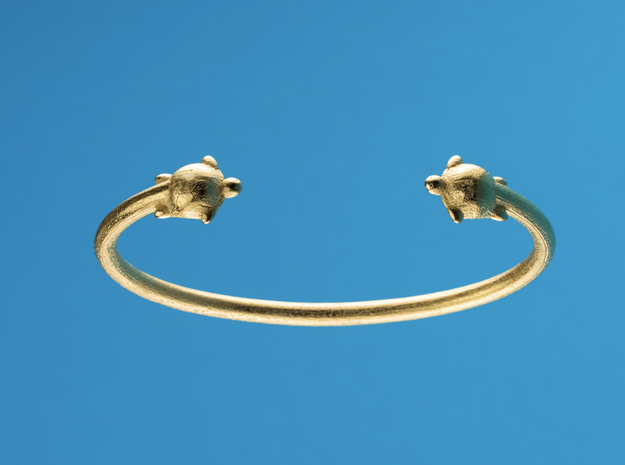 TURTLE LIFE. in Polished Gold Steel: Small