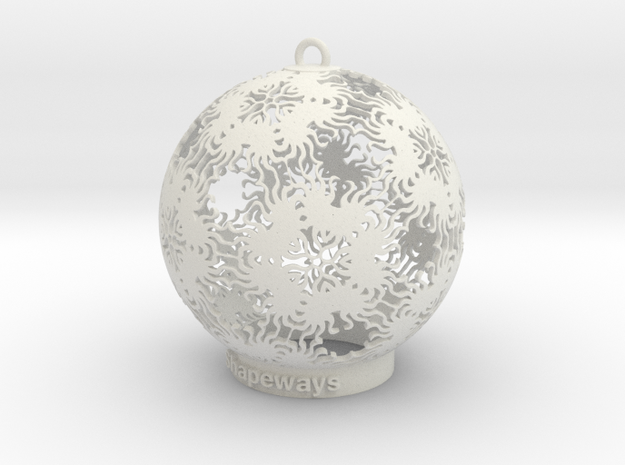 Sun Kaleidoscope Ornament in White Natural Versatile Plastic