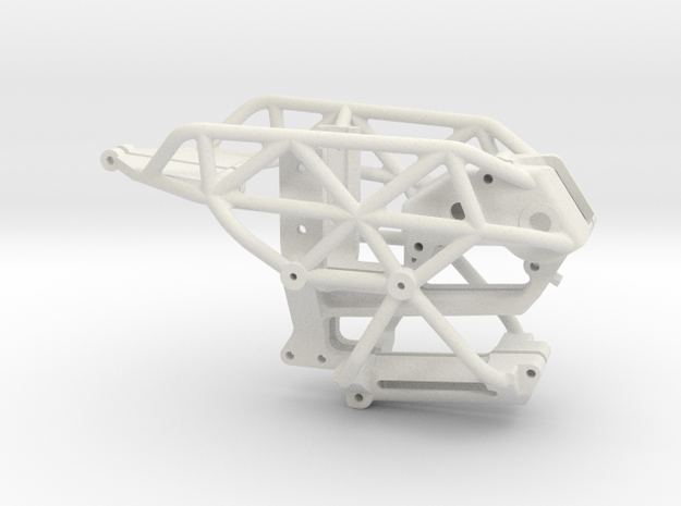 Dancing Rider Chassis Tube Chassis in White Natural Versatile Plastic