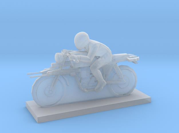 Biker - V1  in Smooth Fine Detail Plastic