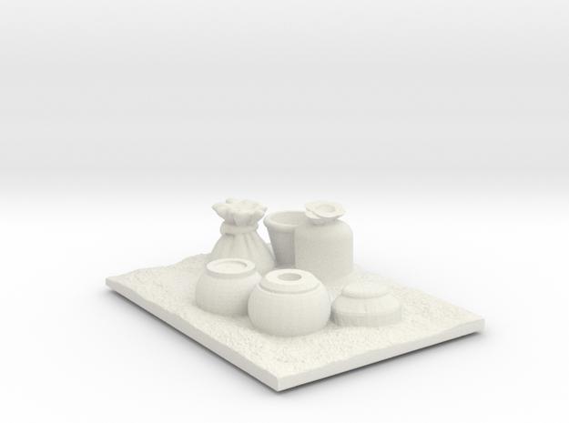 Suspicious Village Pots  in White Natural Versatile Plastic