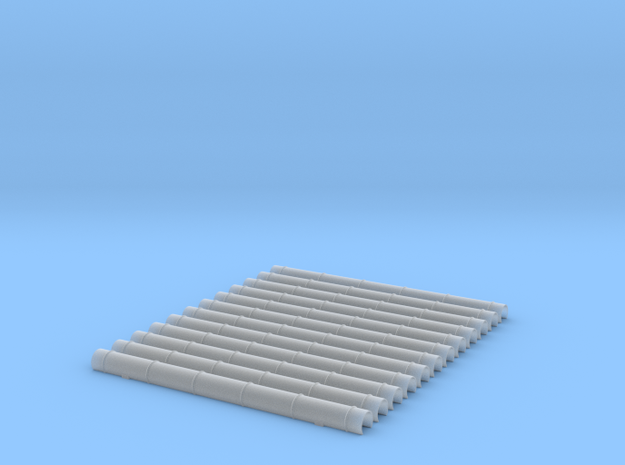 12x Blechkanal Form 1 1:45 in Smooth Fine Detail Plastic