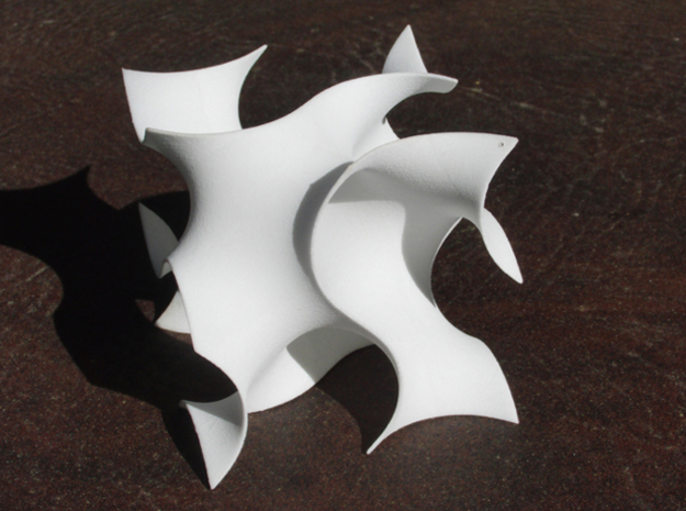 Gyroid unit cell in White Natural Versatile Plastic