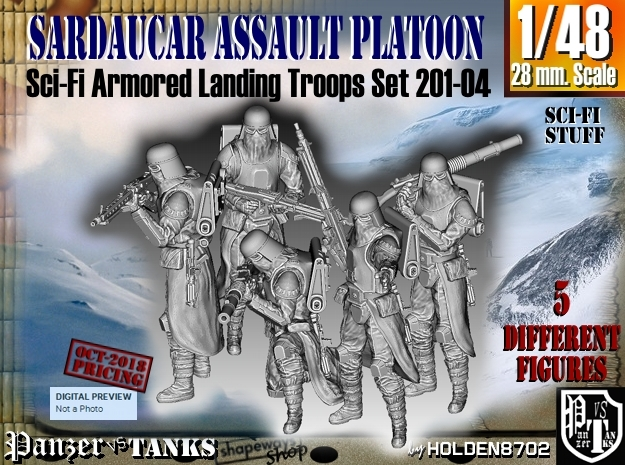 1/48 Sci-Fi Sardaucar Platoon Set 201-04 in Smoothest Fine Detail Plastic