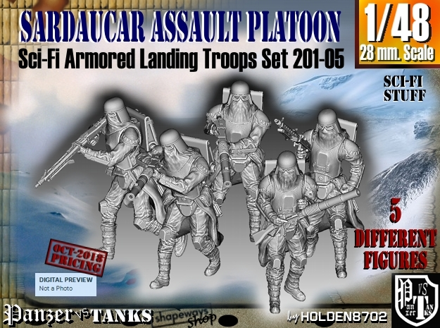 1/48 Sci-Fi Sardaucar Platoon Set 201-05 in Smoothest Fine Detail Plastic