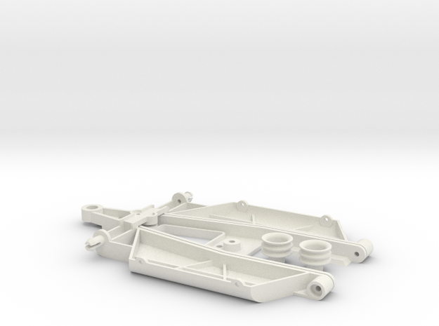 """Complex 1 """"Back to '60"""" chassis in White Natural Versatile Plastic"""