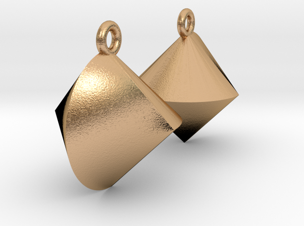 Sphericon Earrings in Natural Bronze