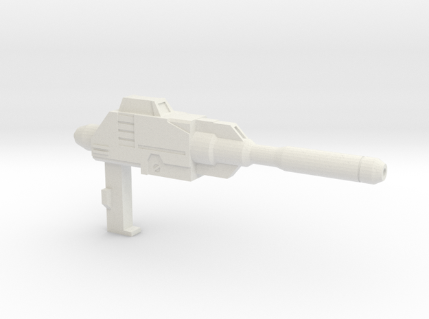 Badcube Steamroll and Recon Flare Gun  in White Natural Versatile Plastic