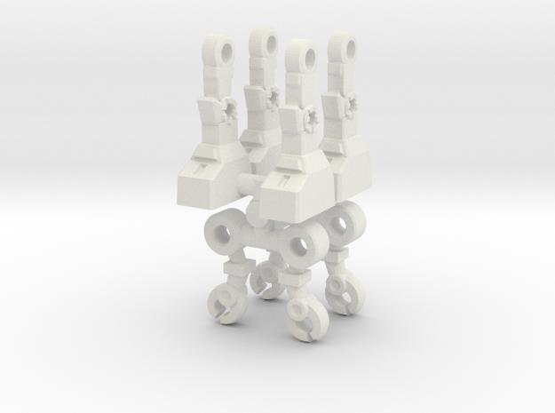 Acroyear Inchman Limbs in White Natural Versatile Plastic: Medium