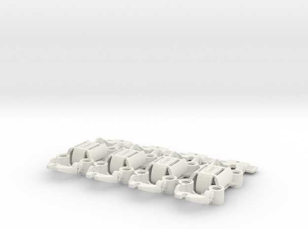 NEW! HWP-4WD Quad-Traction HO Slot Car Chassis 4-P in White Natural Versatile Plastic