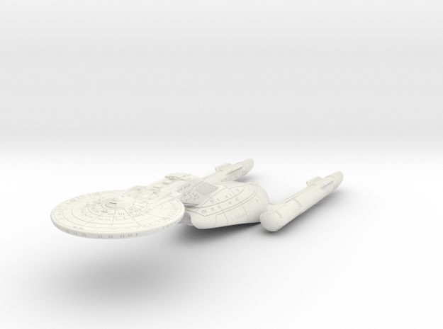 "Federation Wellington Class I  LtCruiser 8"" (TOS V in White Natural Versatile Plastic"