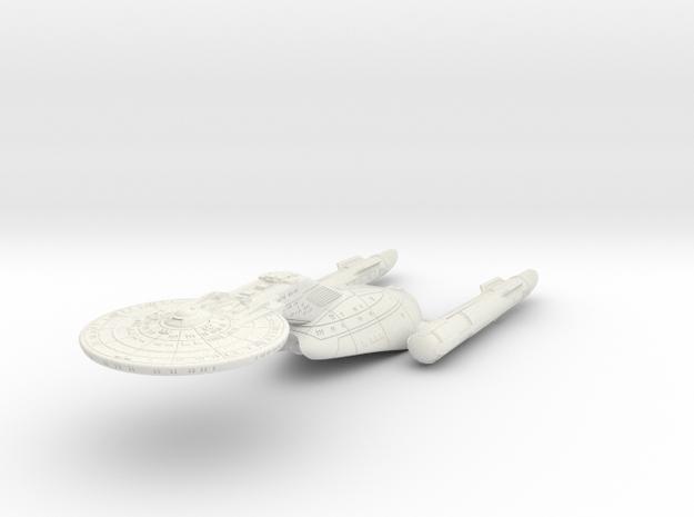 "Federation Wellington Class I  LtCruiser 8"" (TOS V in White Natural Versatile Plastic"