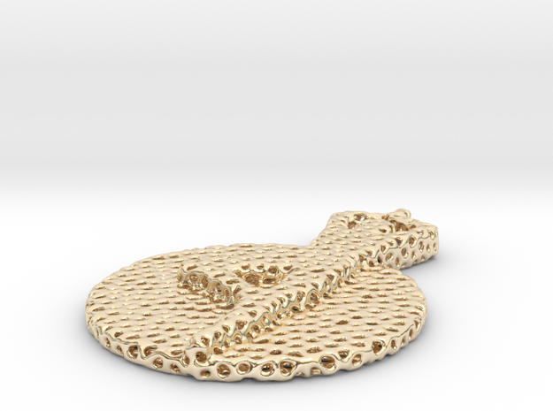 yoga voronoi in 14k Gold Plated Brass