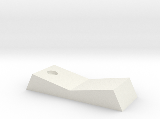 Inferno  Switch With Hole 90 in White Natural Versatile Plastic