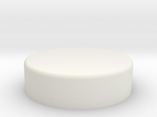 Inferno Button 90 in White Natural Versatile Plastic