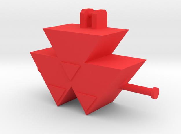 MF Gewicht in Red Processed Versatile Plastic