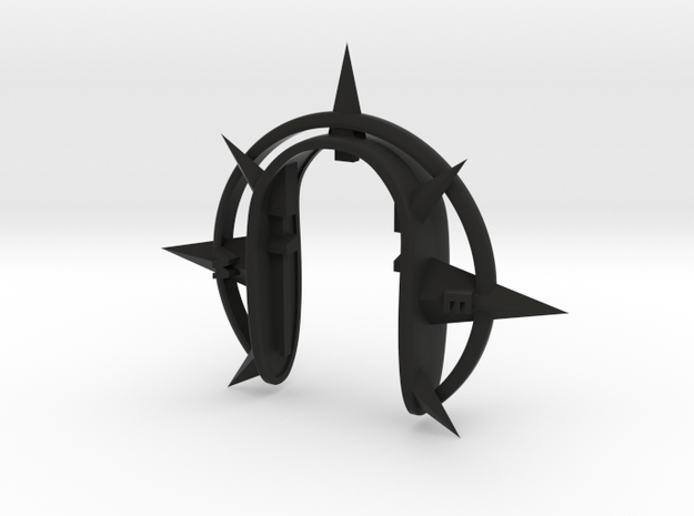COMPASS KEY FOB in Black Natural Versatile Plastic