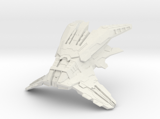 Elachi Monbosh Battleship in White Natural Versatile Plastic
