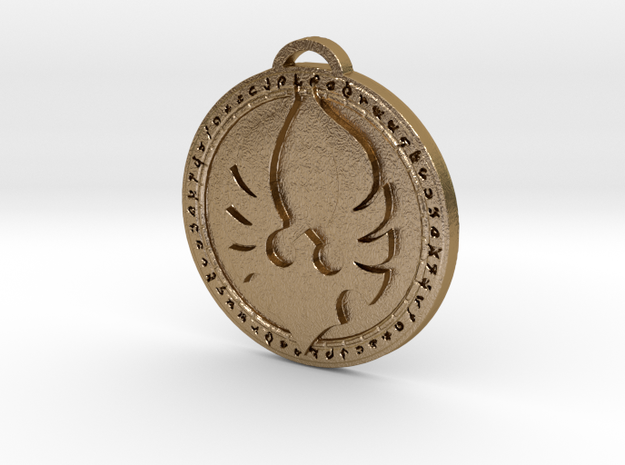 Silvermoon Faction Medallion in Polished Gold Steel