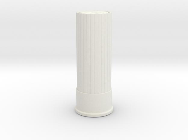 Shoot Gun Shell Token in White Natural Versatile Plastic: Small