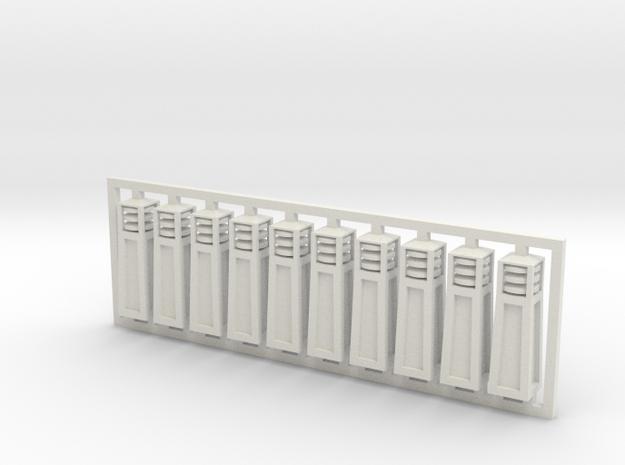 Bollards - Architectural Lighting in White Natural Versatile Plastic