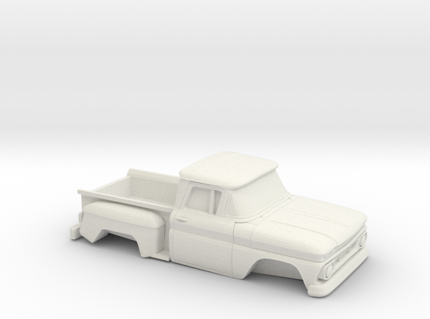 1/32 1962 Chevrolet C-10 Stepside in White Natural Versatile Plastic