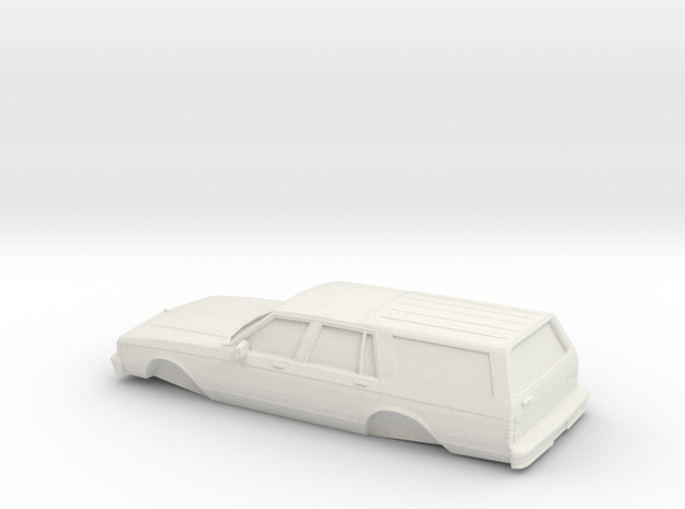 1/32 1982-85 Chevrolet CapriceClassicStation Wagon in White Natural Versatile Plastic