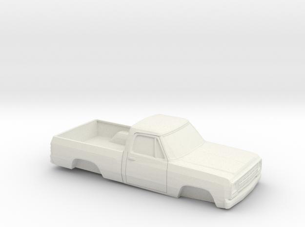 1/32 1972-80 Dodge D-100 in White Natural Versatile Plastic