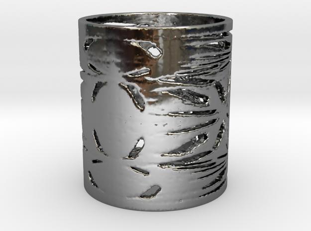Native War Filigree Ring  in Fine Detail Polished Silver: 6 / 51.5