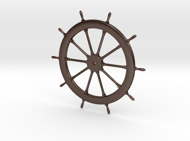Schooner Zodiac Steering Wheel in Polished Bronze Steel