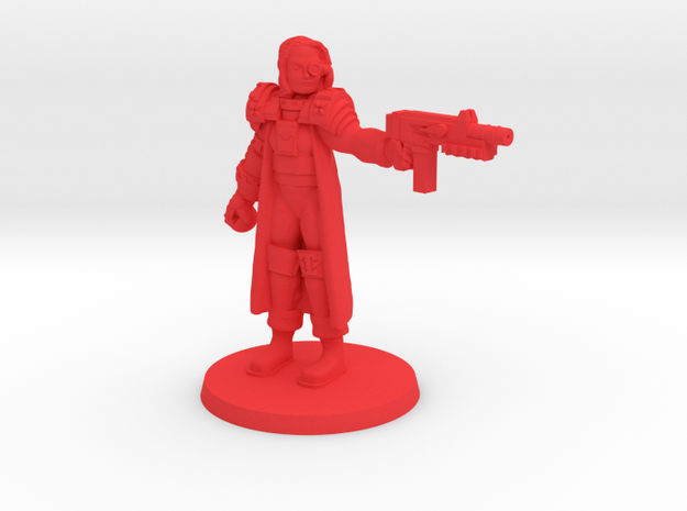 Colonial Inspector in Red Processed Versatile Plastic