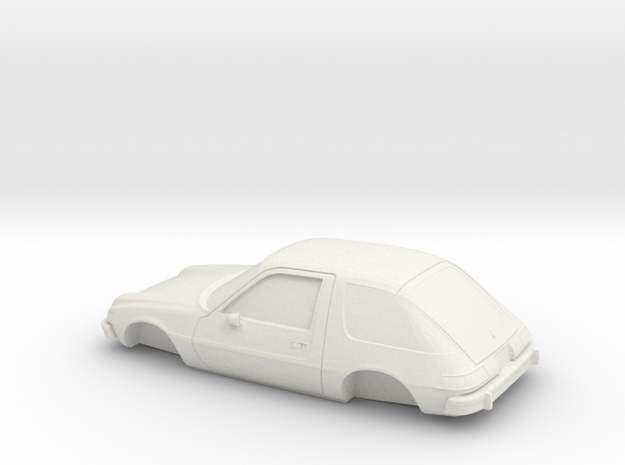 1/32 1975-77 AMC Pacer in White Natural Versatile Plastic