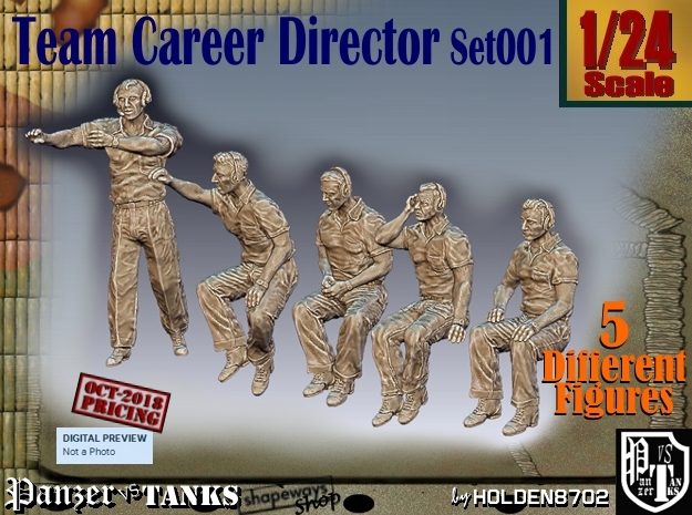 1/24 team career director Set001 in White Natural Versatile Plastic