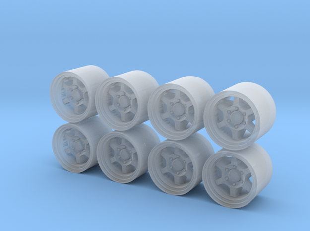 TE37X 4.4mm 1/87 Wheels 4-4 in Smoothest Fine Detail Plastic