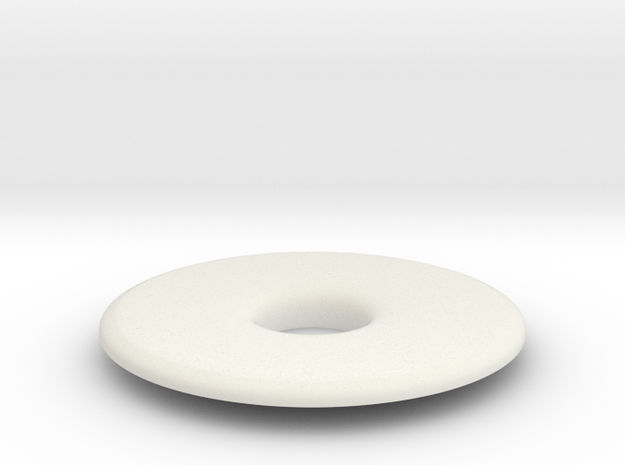 Donut ashtray lid in White Natural Versatile Plastic