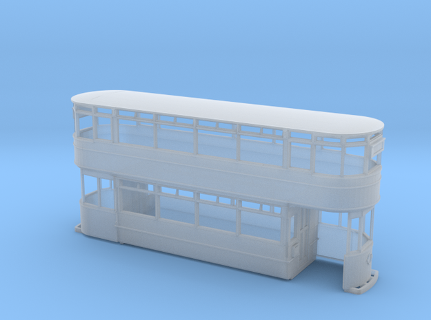 Leeds Hamilton Tram Early) 4mm in Smooth Fine Detail Plastic