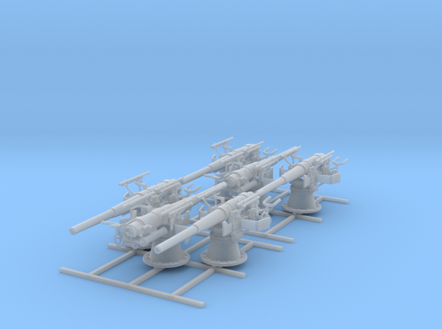 1/100 SMS Emden 10.5cm/40 SK L/40 Guns x6 in Smoothest Fine Detail Plastic