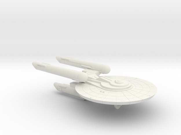 3125 Scale Federation New Heavy Cruiser (NCA) WEM in White Natural Versatile Plastic