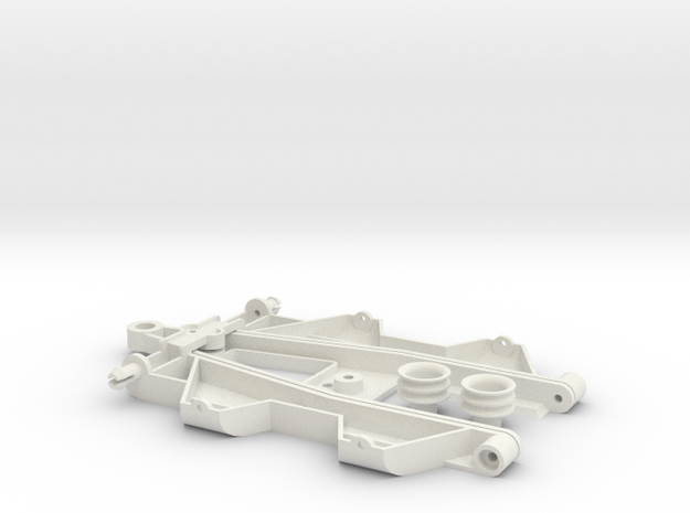 """Complex 4 """"Back to '60"""" chassis in White Natural Versatile Plastic"""