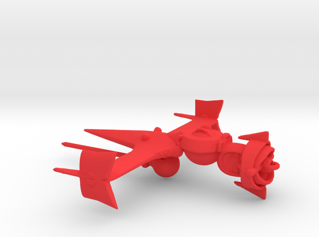 """Cowboy Bebop"" Swordfish II Ship  in Red Processed Versatile Plastic: Small"