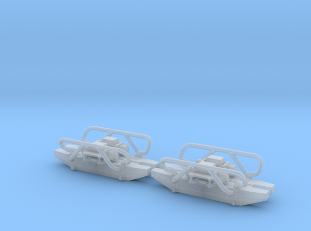 Set of 4 - Offroad Bumper with Winch in 1/64 scale