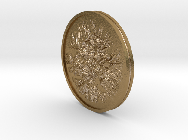 Sutter Buttes Coin in Polished Gold Steel